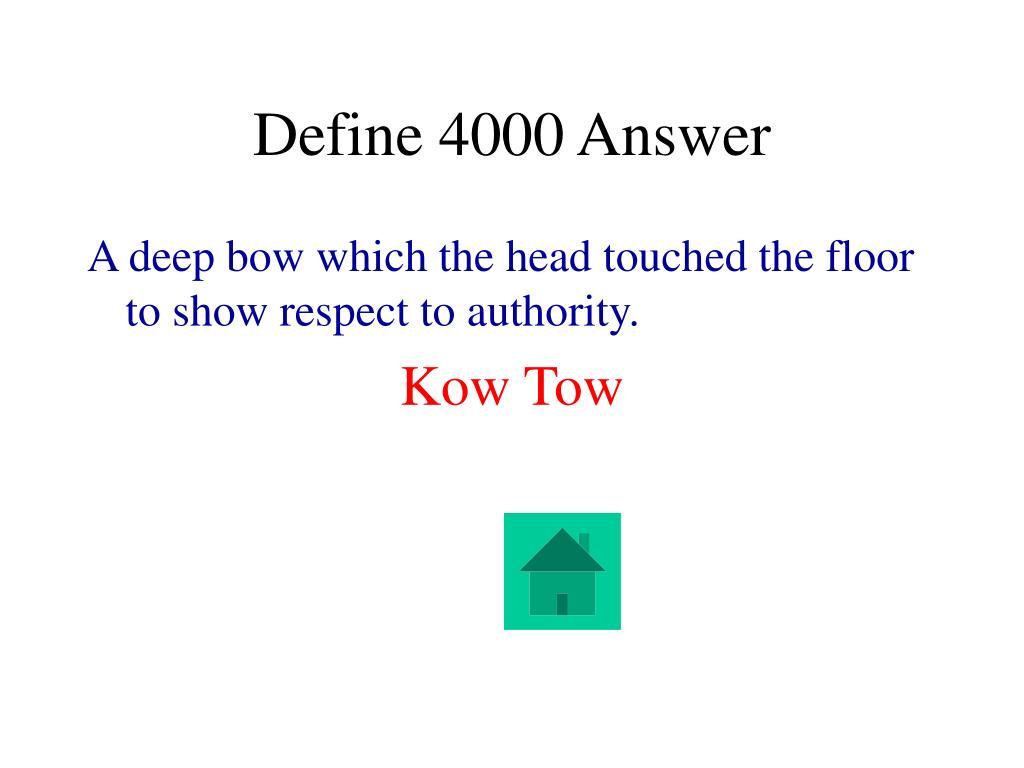 Define 4000 Answer