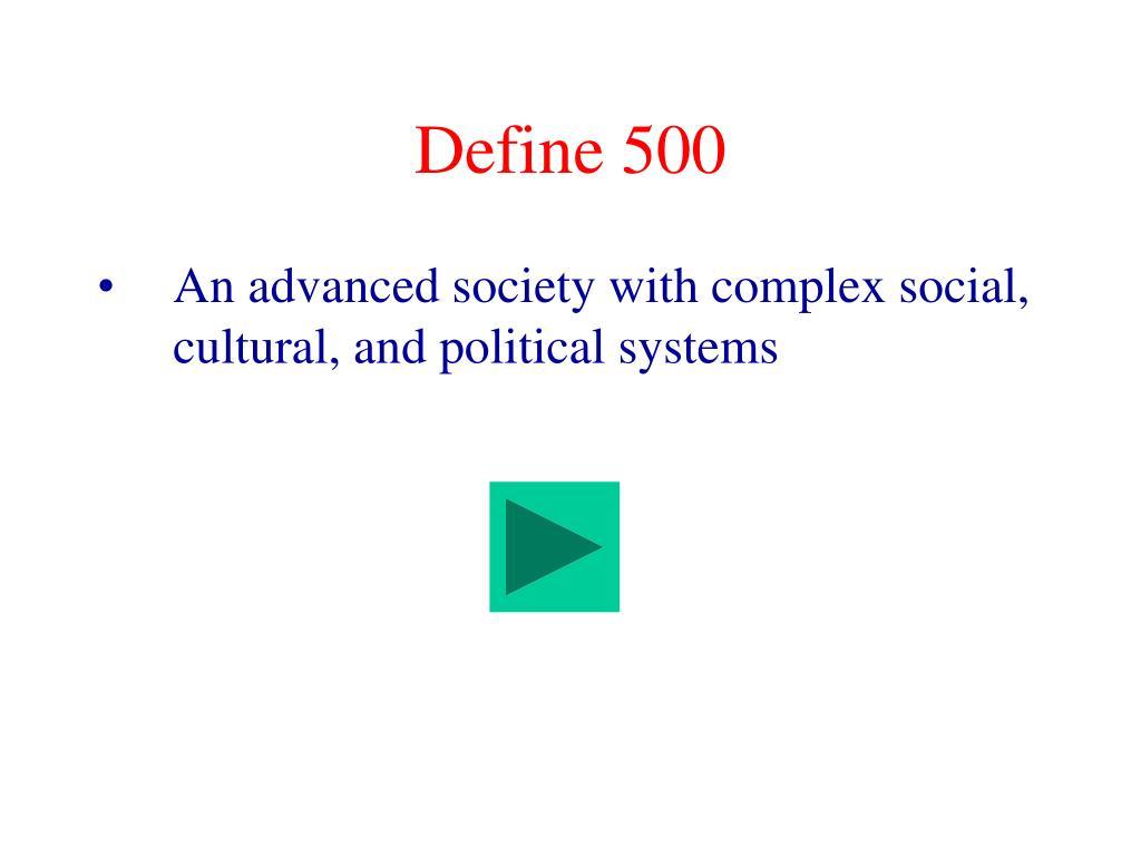 Define 500