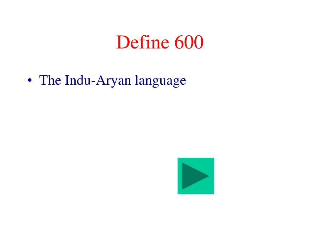Define 600