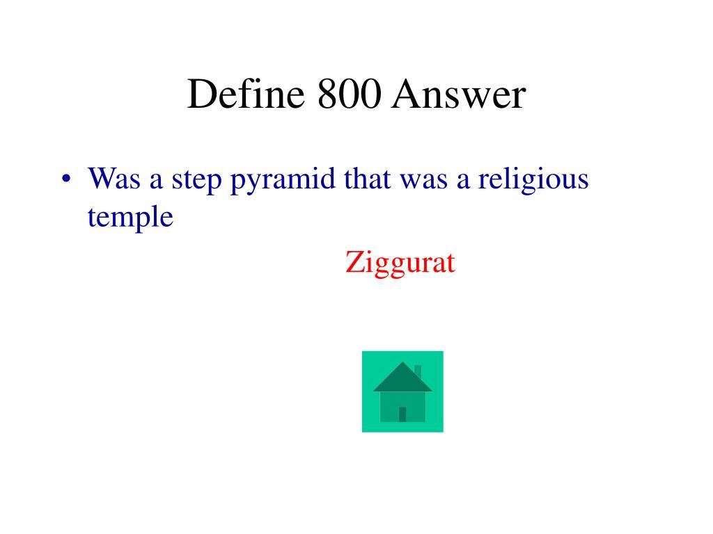 Define 800 Answer