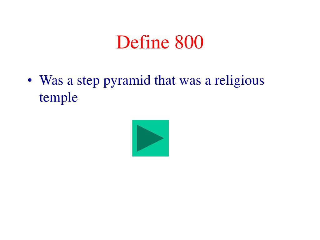 Define 800