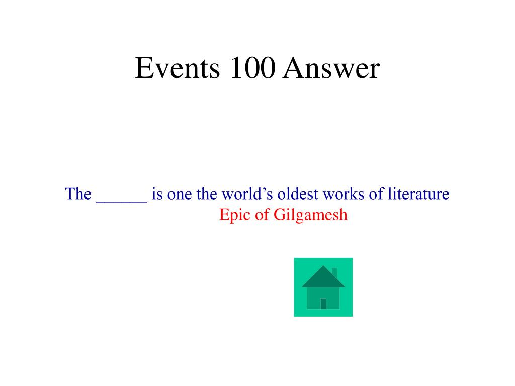 Events 100 Answer