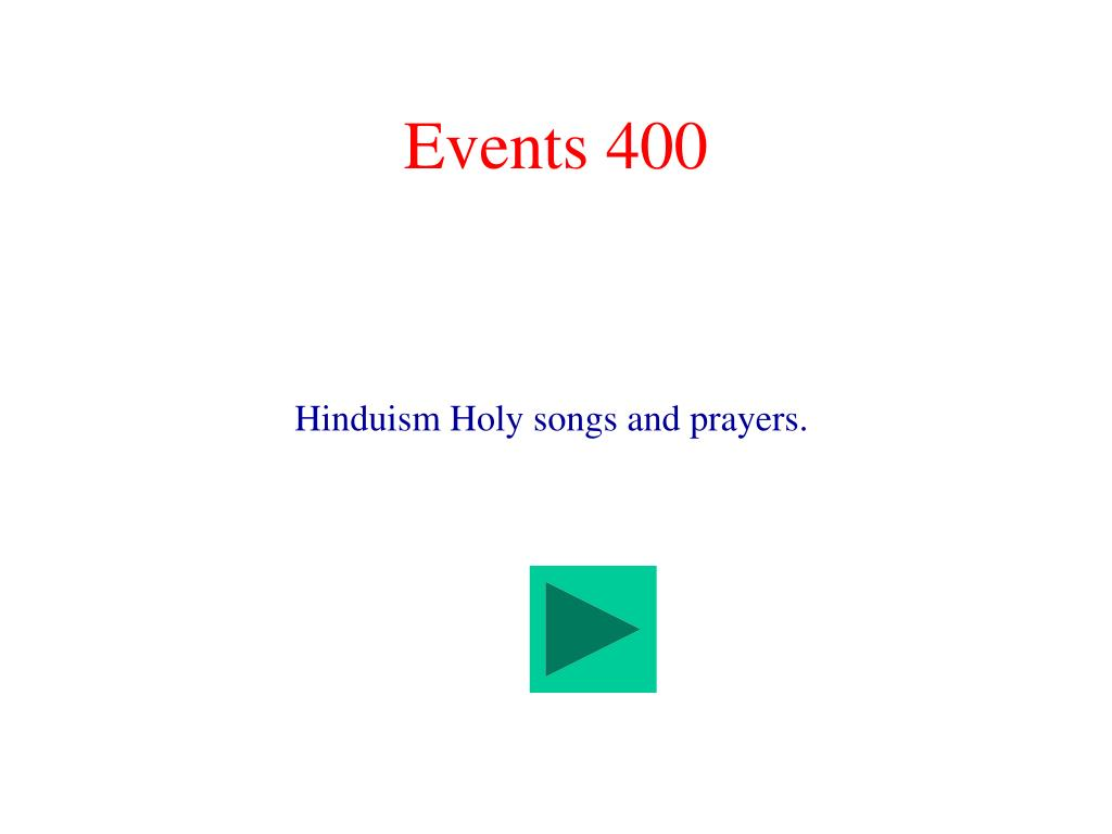 Events 400
