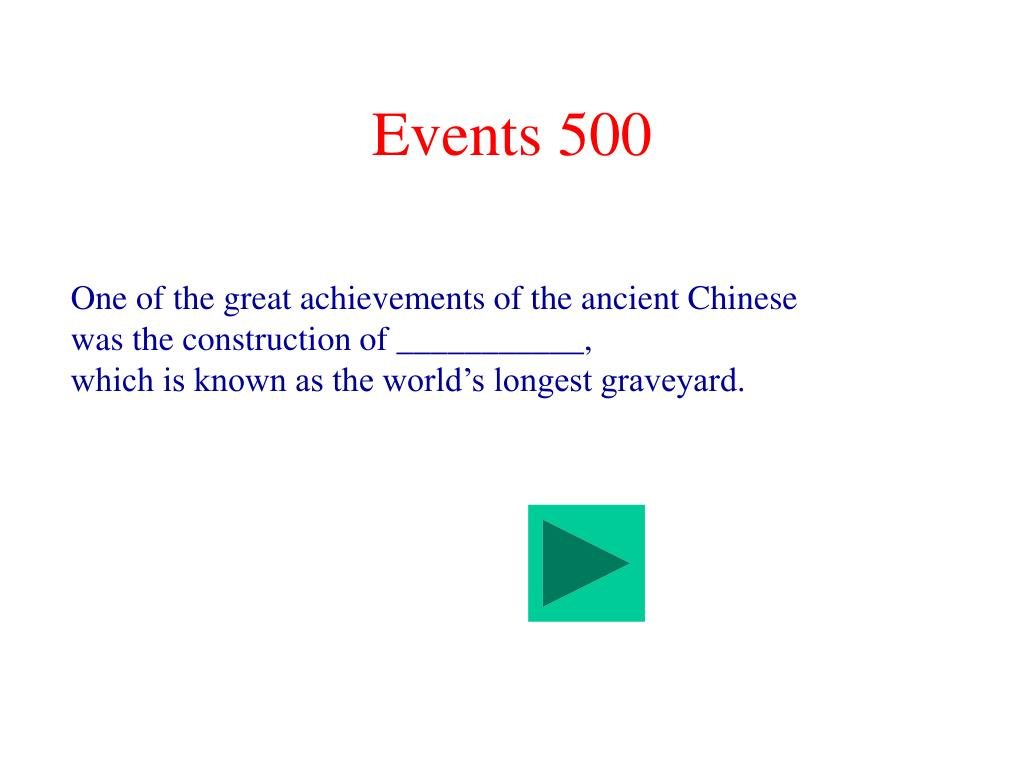 Events 500