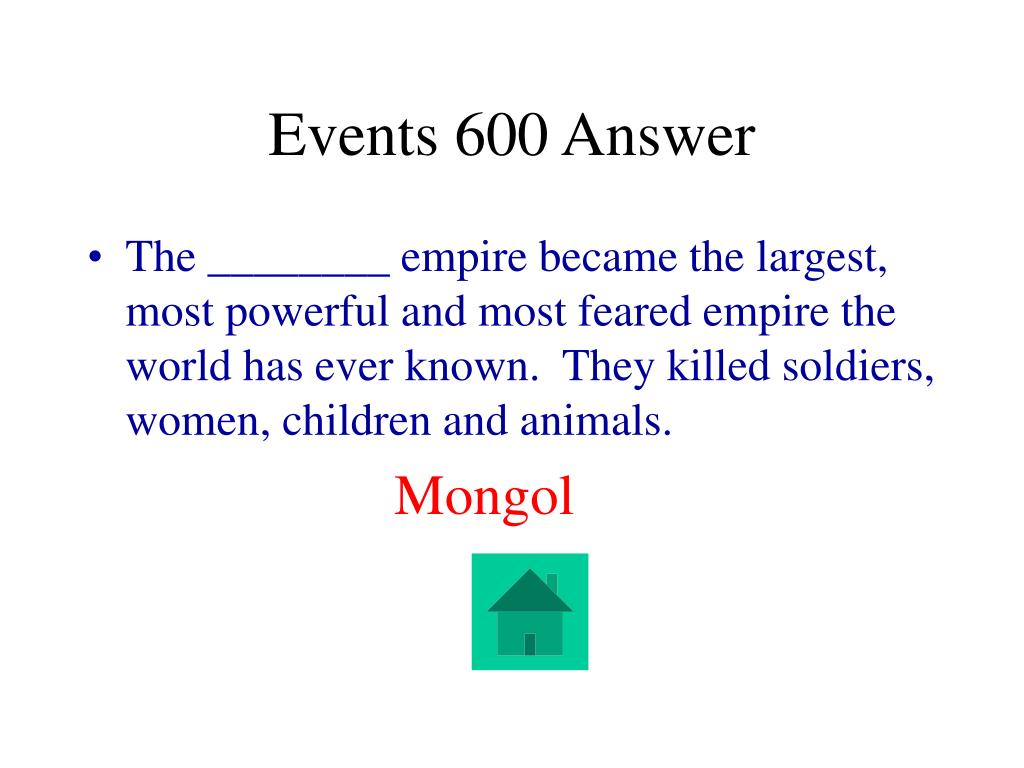Events 600 Answer