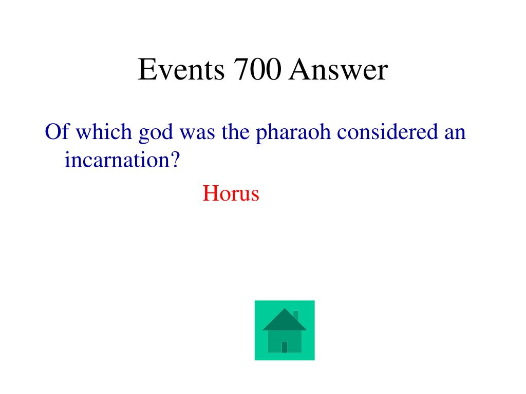 Events 700 Answer