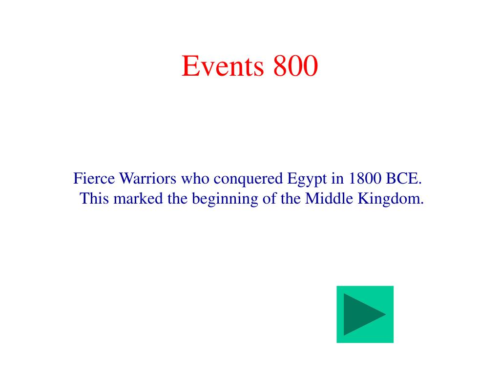 Events 800