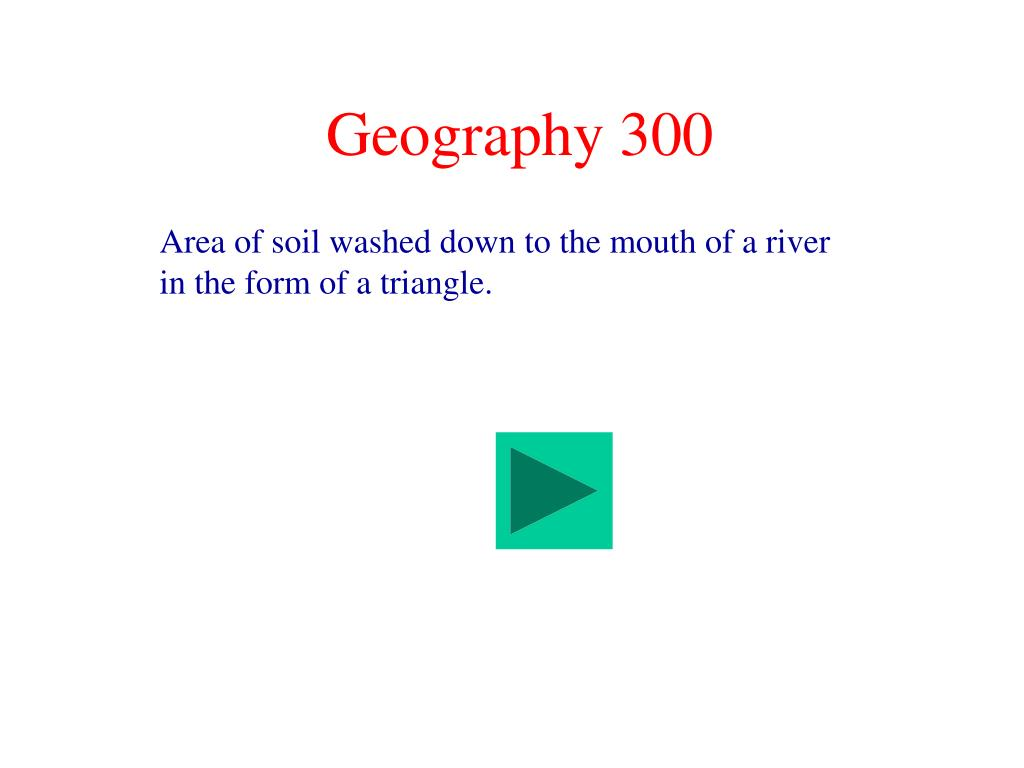 Geography 300
