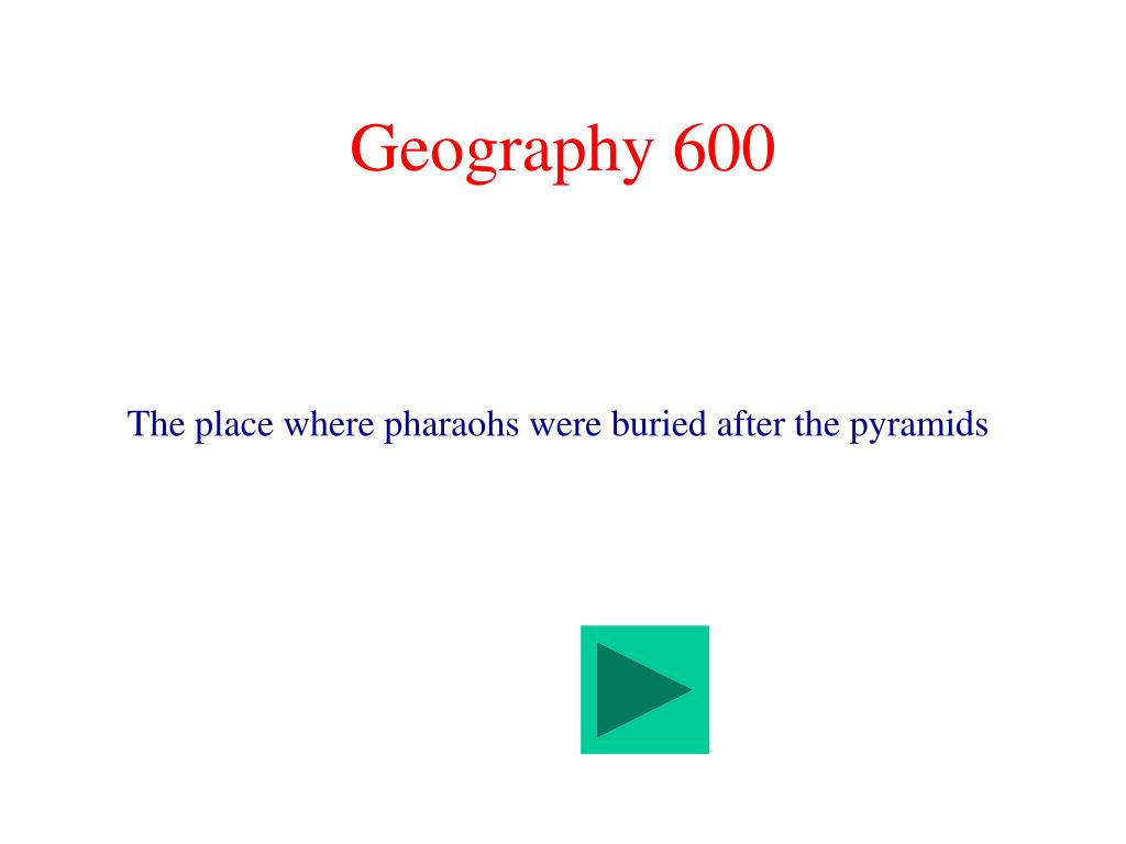 Geography 600