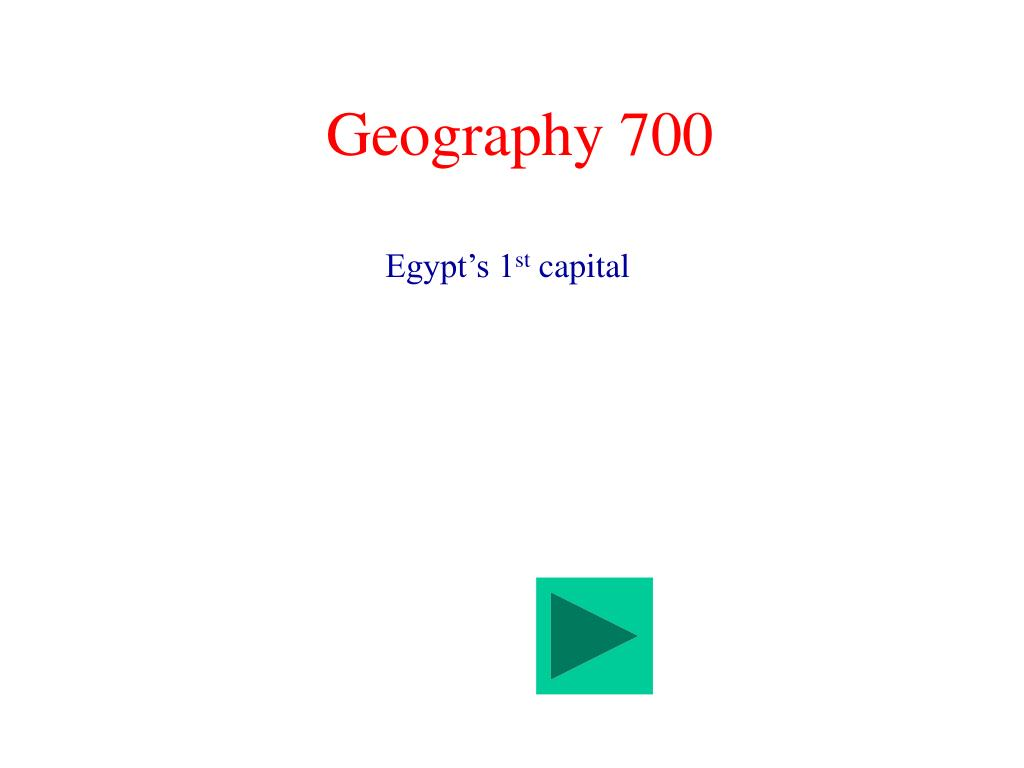Geography 700