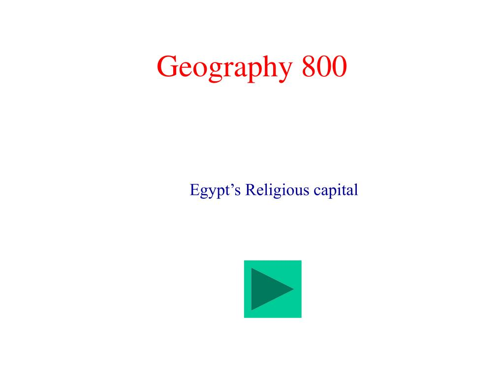 Geography 800