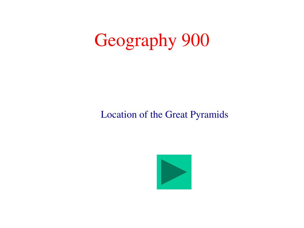 Geography 900