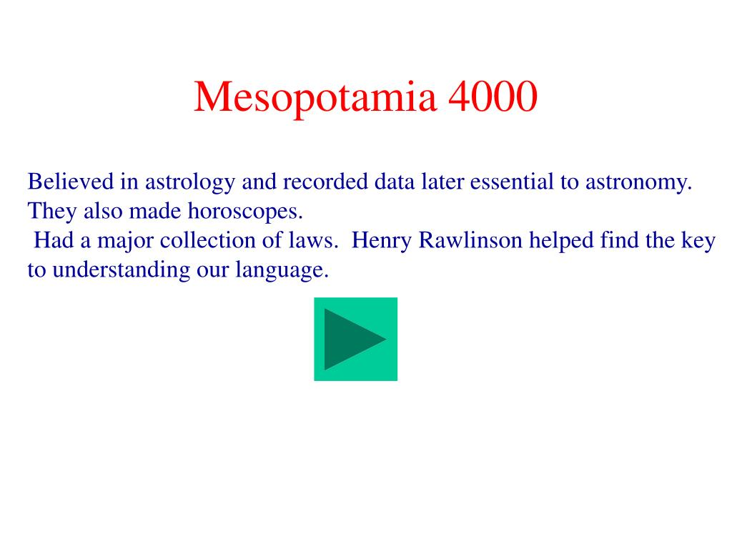 Mesopotamia 4000