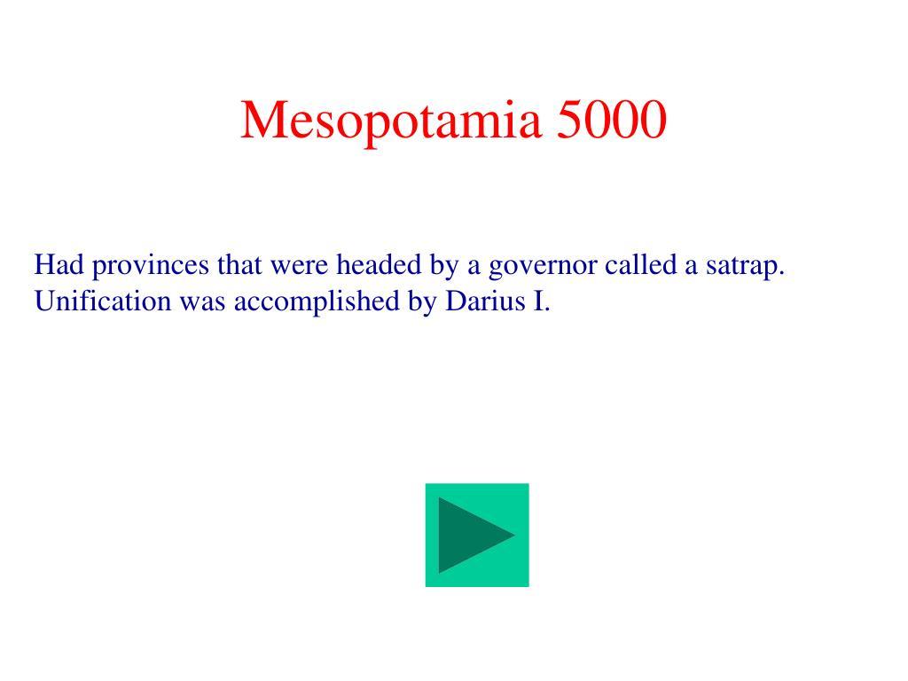 Mesopotamia 5000