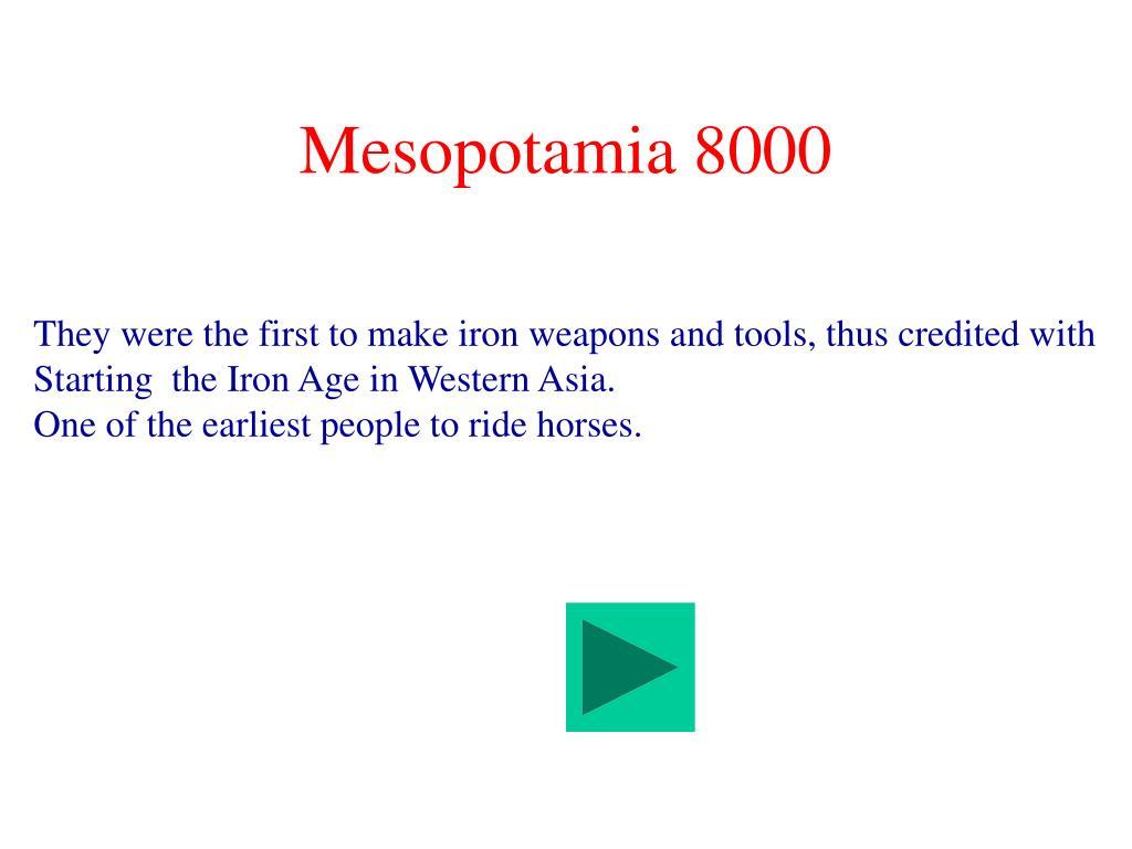 Mesopotamia 8000