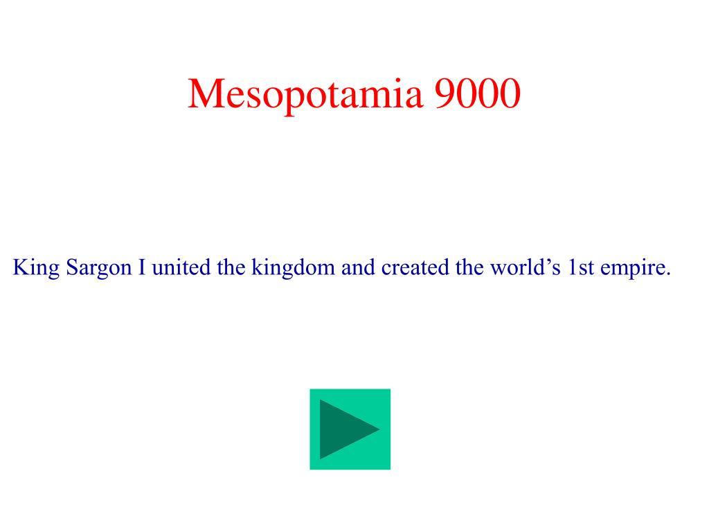 Mesopotamia 9000