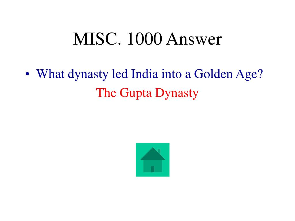 MISC. 1000 Answer