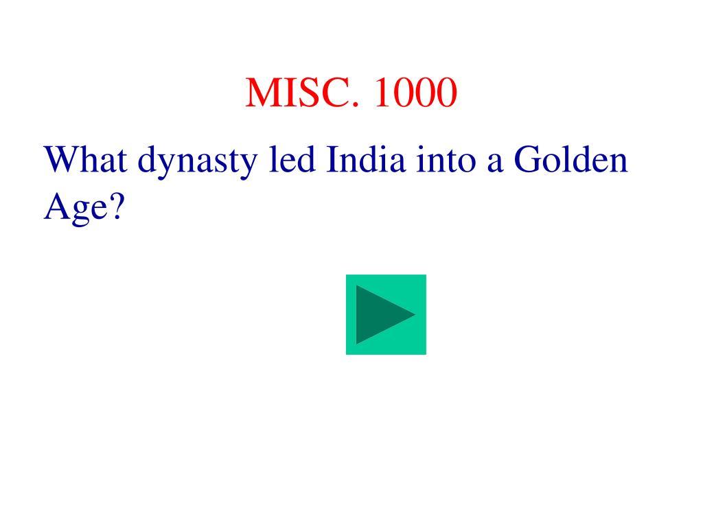 MISC. 1000