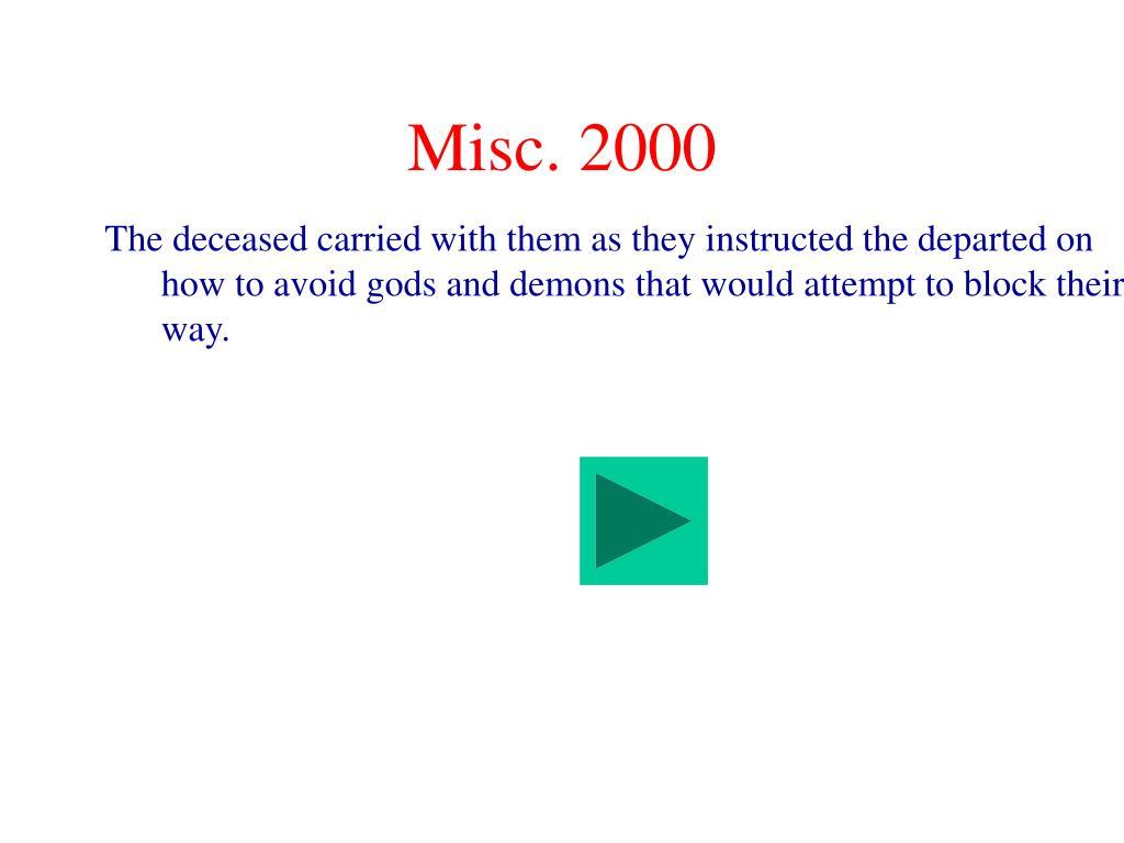 Misc. 2000