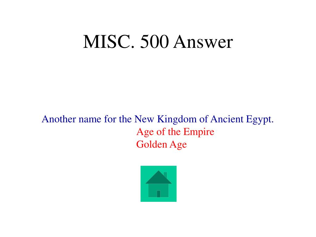 MISC. 500 Answer