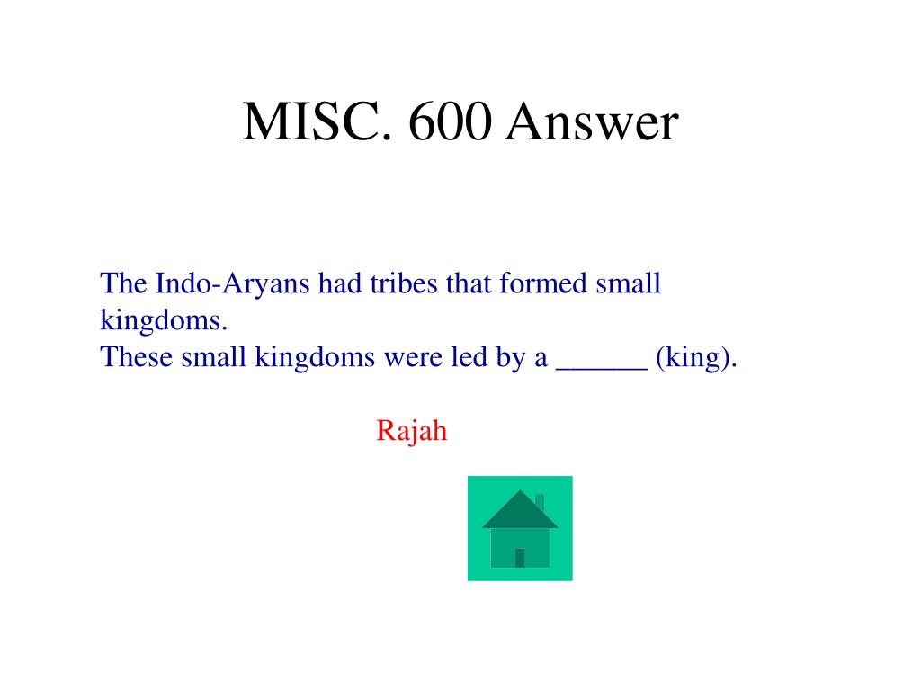MISC. 600 Answer