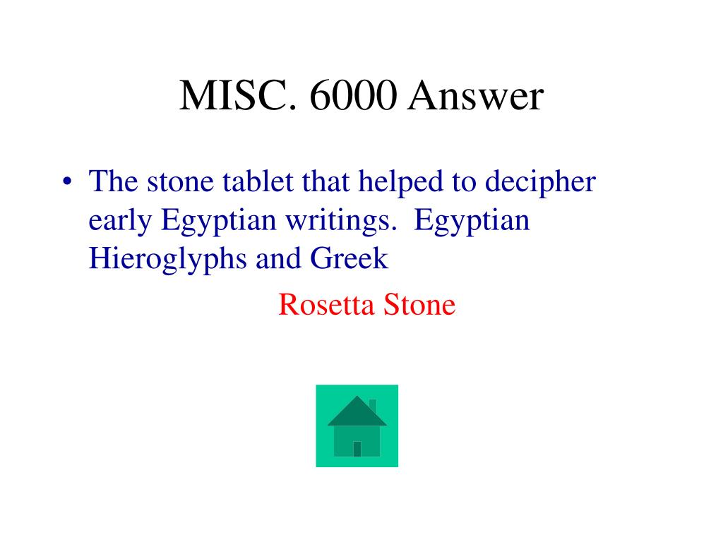 MISC. 6000 Answer