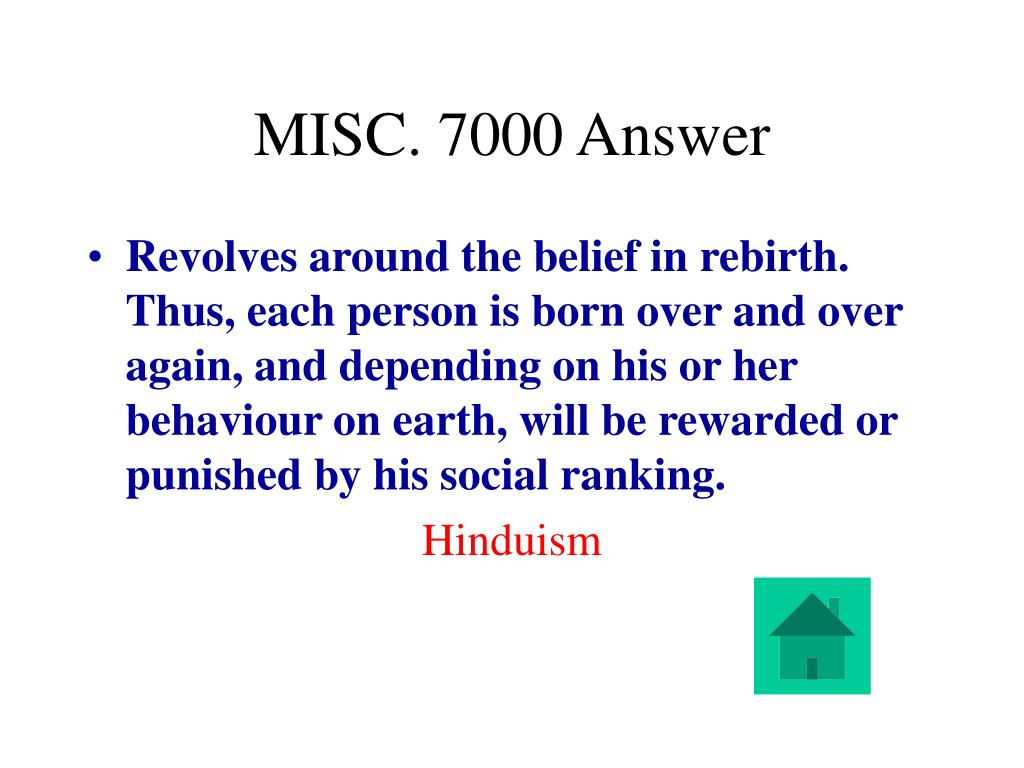 MISC. 7000 Answer