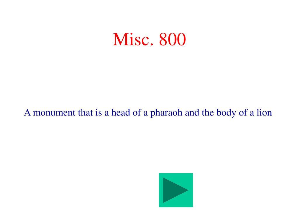 Misc. 800
