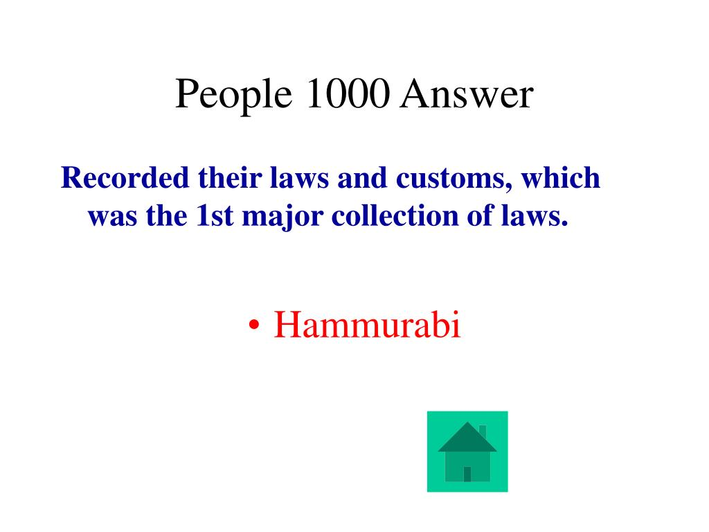 People 1000 Answer