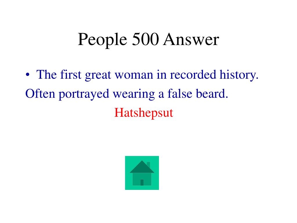 People 500 Answer