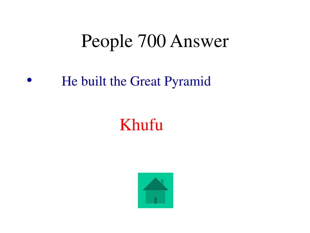 People 700 Answer