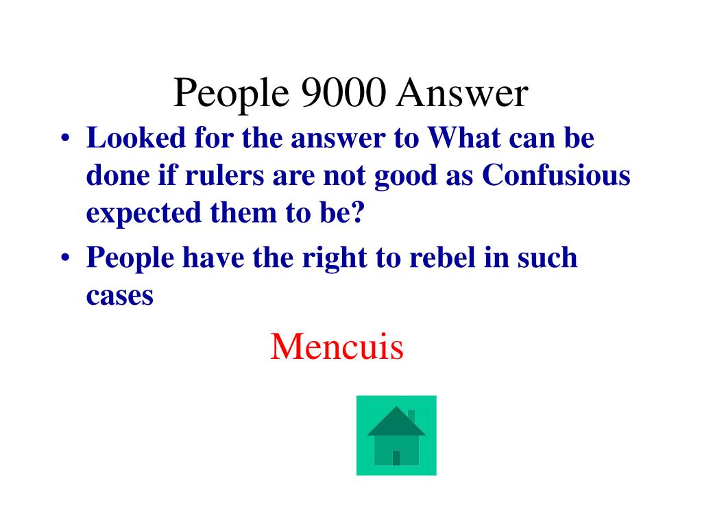 People 9000 Answer