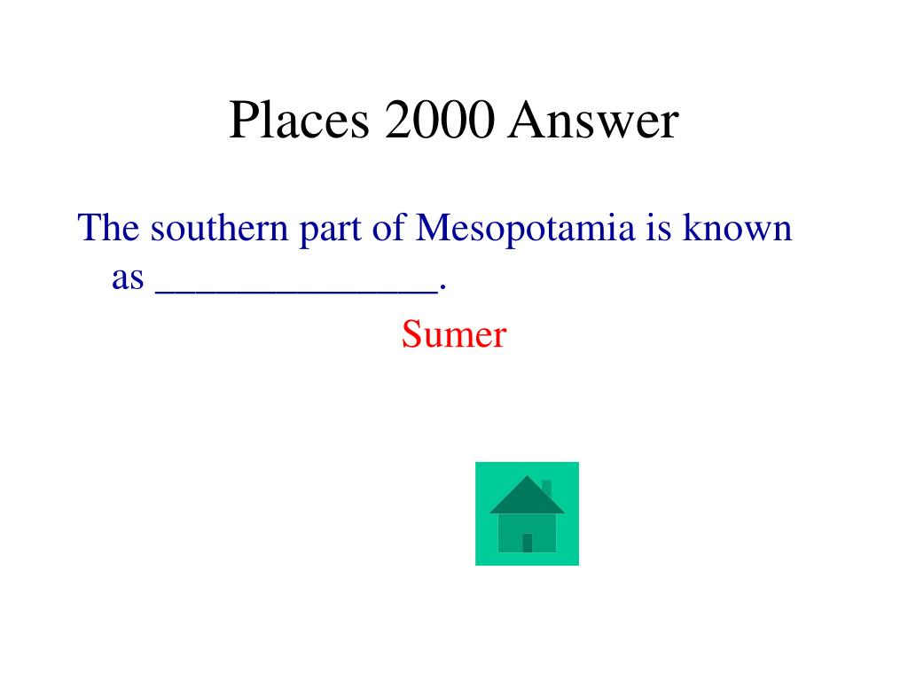 Places 2000 Answer