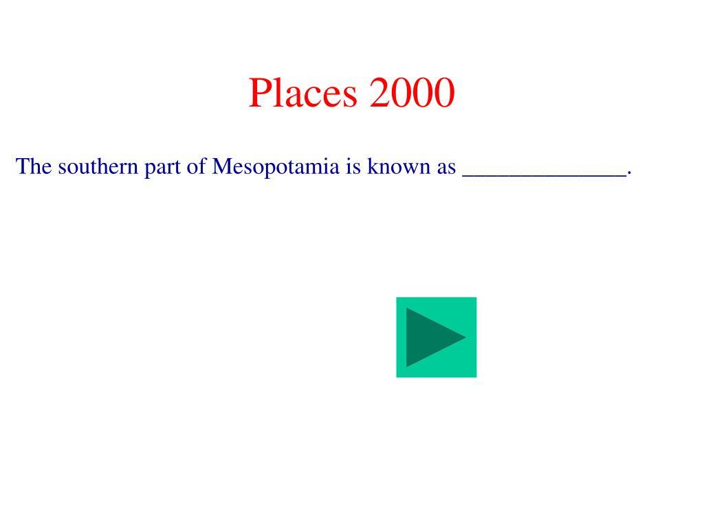 Places 2000