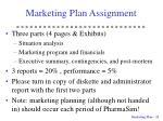 marketing plan assignment1