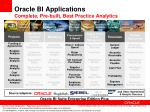 oracle bi applications complete pre built best practice analytics2