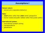 assumptions i