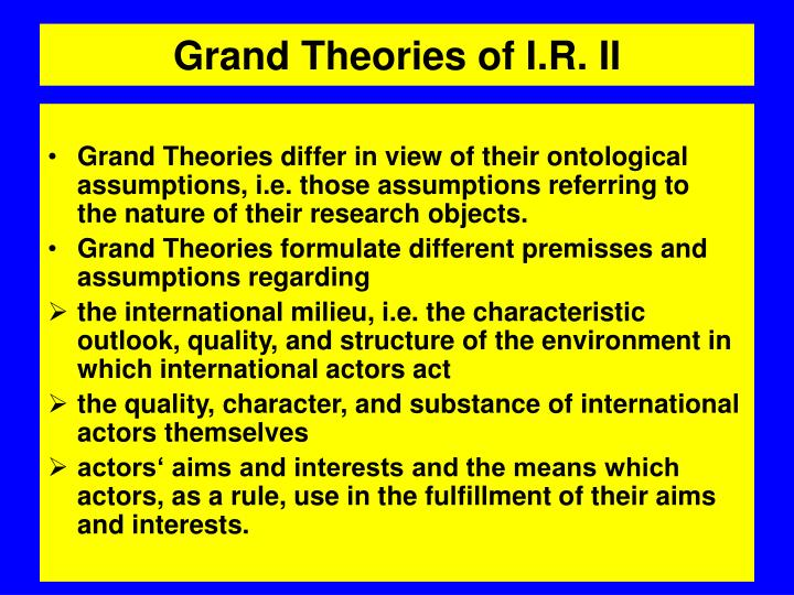 grand theories essay Grand theory written assignment essay assignment 31: grand theory written assignment assignment 31: grand theory written assignment nursing theory gathers specific information regarding aspects of nursing and utilizes these findings to communicate and describe nursing phenomena.