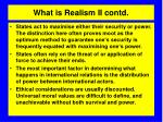 what is realism ii contd