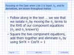focusing on the case when link 2 is input 2 and its derivatives are known throughout motion