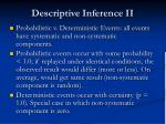 descriptive inference ii