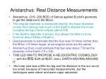 aristarchus real distance measurements
