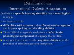 definition of the international dyslexia association