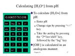calculating h 3 o from ph