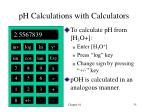 ph calculations with calculators