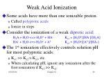 weak acid ionization1
