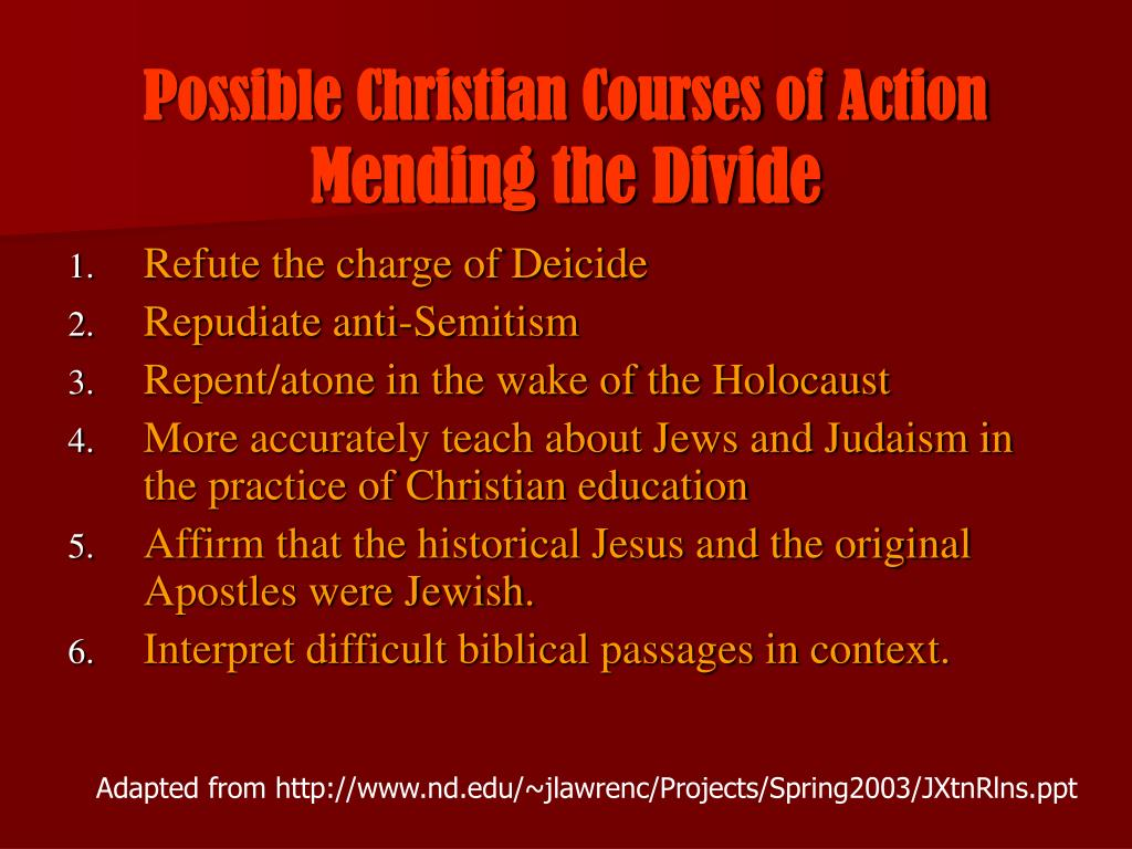 Possible Christian Courses of Action