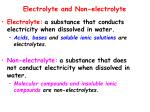 electrolyte and non electrolyte