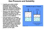 gas pressure and solubility