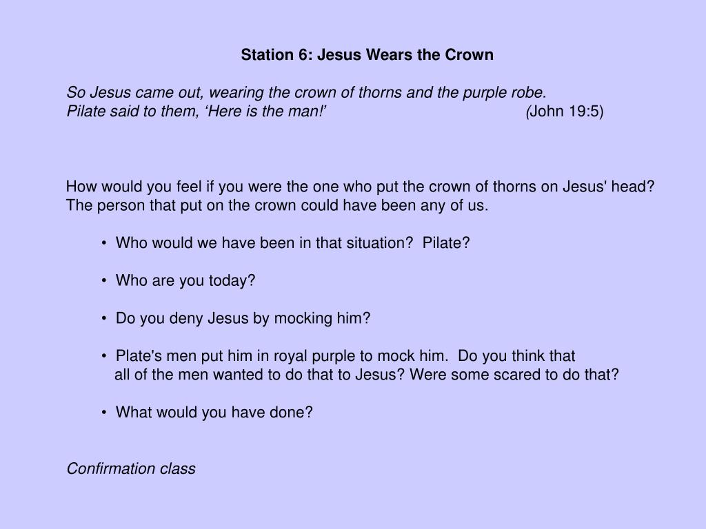 Station 6: Jesus Wears the Crown